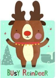 Snuggles: Busy Reindeer: With Plush Ears (Board Book)