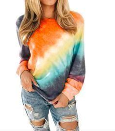 Tie Dye Long Sleeve Lightweight Sweatshirt