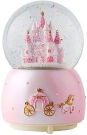 Music Box Crystal Carousel Snow Globe