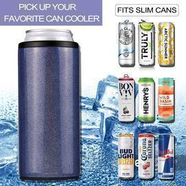 Skinny Stainless Steel Insulated Can Cooler