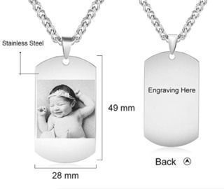 Personalized Picture Necklace Pendant
