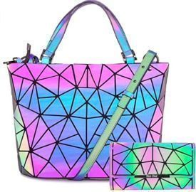 Luminous Geometric Purse and Handbag