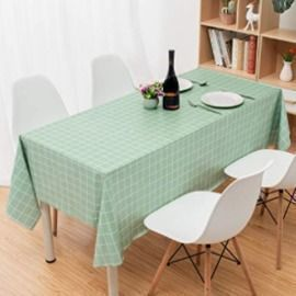 55x79 Checkered Tablecloth