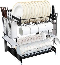 Lyouy 2-Tier Dish Drying Rack