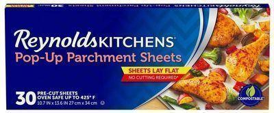 30 Count Reynolds Kitchens Pop-Up Parchment Paper Sheets