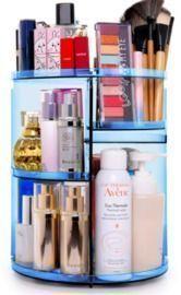 360 Rotating Makeup Organizer (BLUE)