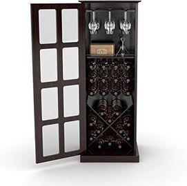 Atlantic Wood Bar 24-Bottle Wine Rack Liquor Cabinet