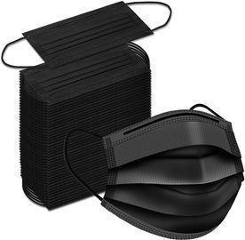 100pk Black Disposable Face Masks