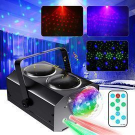 Sound Activated Disco Ball Lights with Remote Control