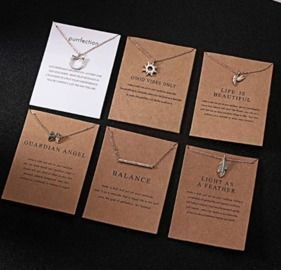 Creative Paper Card Necklace