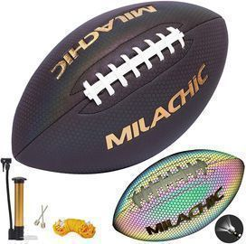 Holographic Reflective Glow Leather Football