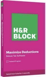 H&R Block Tax Software Deluxe 2020 PC Windows/Mac (Key Card)