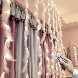 Curtain Feather String Lights