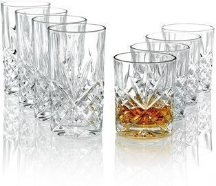Godinger Barware Dublin Double Old-Fashioned and Highball Glasses, Set of 8