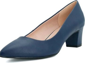 Amazon - Pointed Toe Low Block Pumps $17.99
