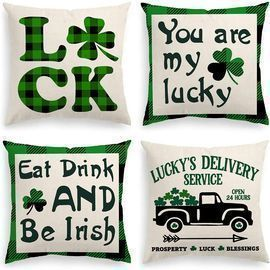 INSHERE St. Patrick's Day Throw Pillow Covers
