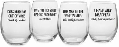 Orodell Uncorked 21 oz. All Purpose Wine Glass, 4pk