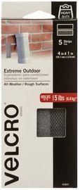 VELCRO Brand Industrial 4 x 1 Outdoor Fastener Strips, 5pk