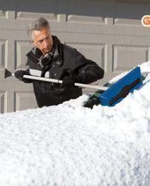 Snow Joe Telescoping Snow Broom with Ice Scraper