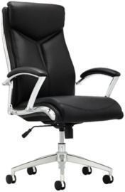 Realspace Modern Comfort Verismo Bonded Leather High-Back Executive Chair