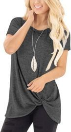 Knotted T Shirt