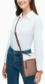 kate spade - jackson colorblock top zip crossbody