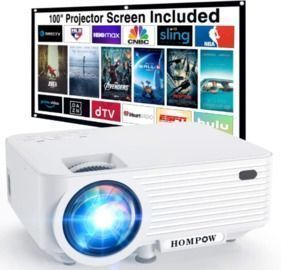 Portable Mini Projector with 100 Projector Screen