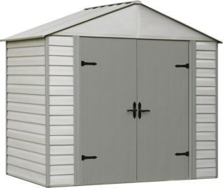Arrow Viking 8ft. Vinyl-Coated Steel Storage Shed