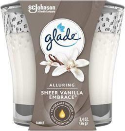 Glade Candle Jar Air Freshener - Sheer Vanilla Embrace