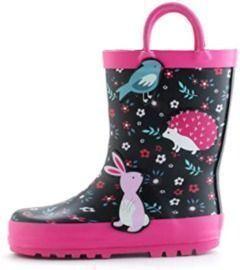 Kids Waterproof Rain Boots with Handles