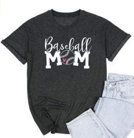 Baseball Mom Casual Short Sleeve T-Shirt