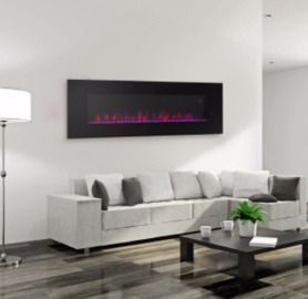 50 Wall Mount Electric Fireplace with Remote Control