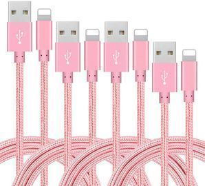 4 Pack of Nylon Braided iPhone Lightning Cables
