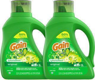 2-Count 75oz. Gain Liquid Laundry Detergent Plus Aroma Boost