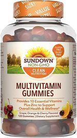 120 Count Sundown Adult Multivitamin Gummies