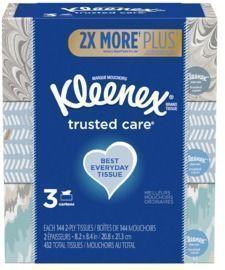 3pk of Kleenex Everyday Facial Tissues
