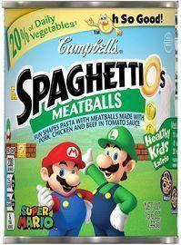 Campbell's SpaghettiOs Super Mario Bros. Shaped Pasta w/ Meatballs
