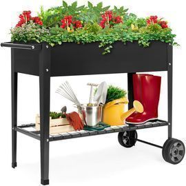 Best Choice Products Elevated Metal Garden Bed w/ Wheels