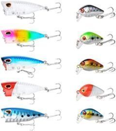 10PCS Topwater Fishing Lures