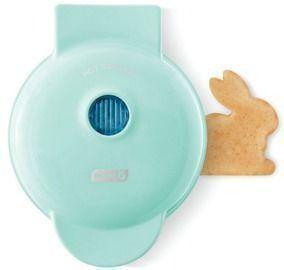 Dash Bunny Mini Waffle Maker in Aqua