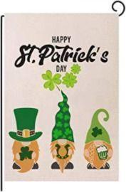 St Patrick's Day Garden Flag