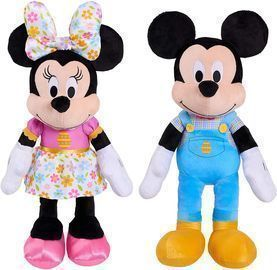 Large 19 Disney Plush Mickey/Minnie Mouse
