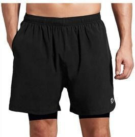 Men's 2-in-1 Running Athletic Shorts