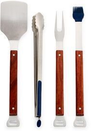 Martha Stewart Collection Wood 4pc Grilling Set
