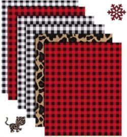 Buffalo Plaid Heat Transfer Vinyl - 6 Sheets 12 x 10