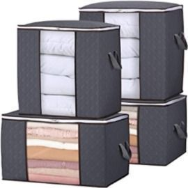 Storage Bag Closet Organizer with Reinforced Handle - 4 Pack