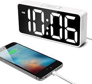 7.5 Large LED Digital Alarm Clock with USB Port