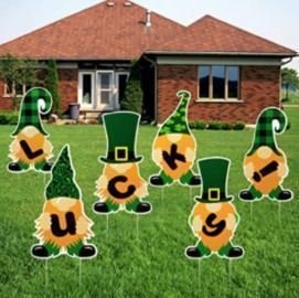 St. Patrick's Day Yard Signs