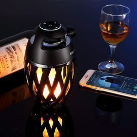 DIKAOU LED Flame Table Lamp & Portable Speaker