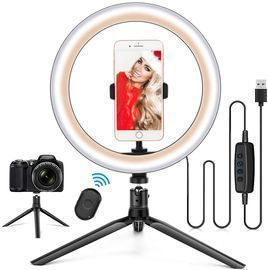 """Amazon - 10.2"""" Ring Light with Stand & Phone Holder $5.29"""